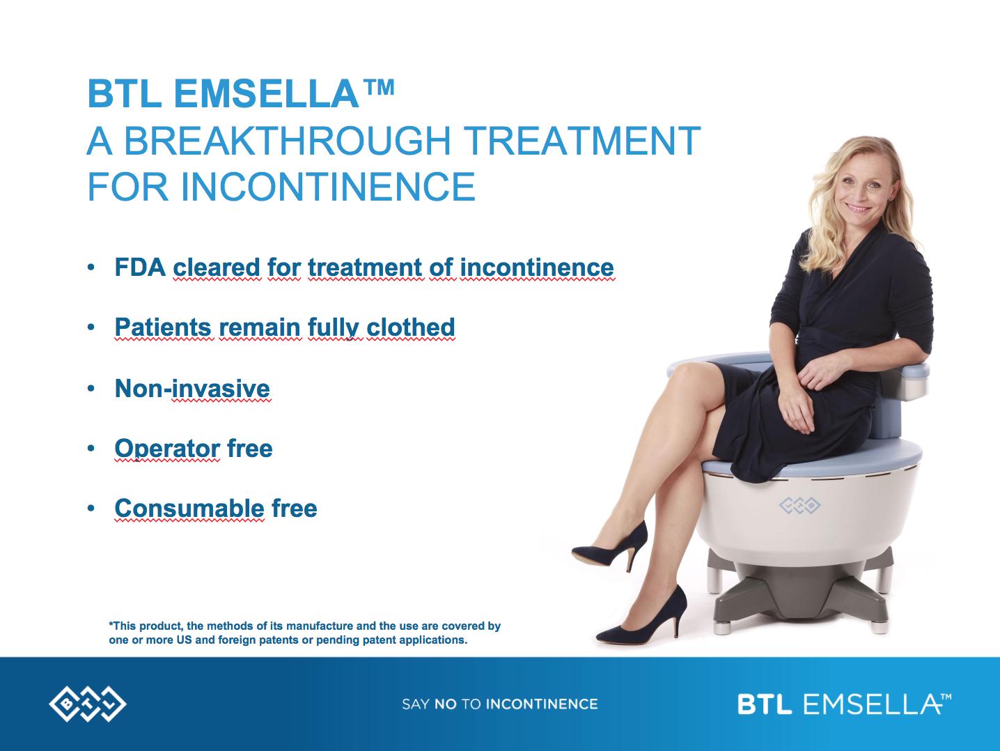 BTL Emsella A breaktrhough treatment for incontinence